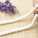 Beads, Glass, White , Round shape, Diameter 8mm, 10 Beads, [BHB0164]